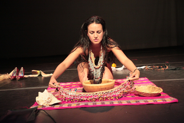 Collaborating Artist in the BX:MEZCLATINA projCynthia Paniagua photo: Miguel Anaya, 2012