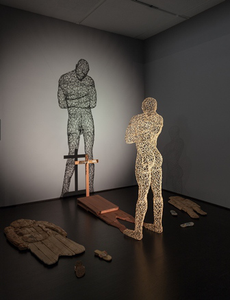 Aimé Mpane, Congo, Shadow of the Shadow, 2005, Mixed-media installation, 132 x 209 x 144 in., National Museum of African Art, Smithsonian Institution, Museum Purchase, 2009-10-1, photo (c) 2013 Museum Associates/LACMA