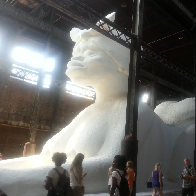 Kara Walker Installation. Domino Sugar Factory. 2014. Photo by Erin K. Hylton.