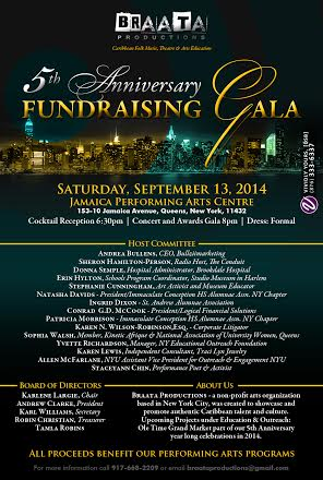 Braata Productions 5th Anniversary Fundraising Gala