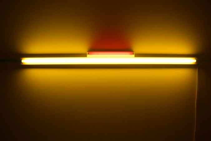 "Dan Flavin ""Untitled"" 1964 (Photo by Erin K. Hylton 2015.)"