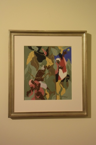"Jacob Lawrence ""The North Star (from Harriet and The Promised Land)"" 1967 gouache and tempera on paper Greenville County Museum of Art. Photo by Erin K. Hylton 2016."