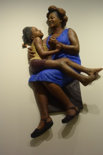 "John Ahearn ""Pat and Selena at Play"" 1983 Painted cast plaster Greenville County Museum of Art. Photo by Erin K. Hylton 2016."