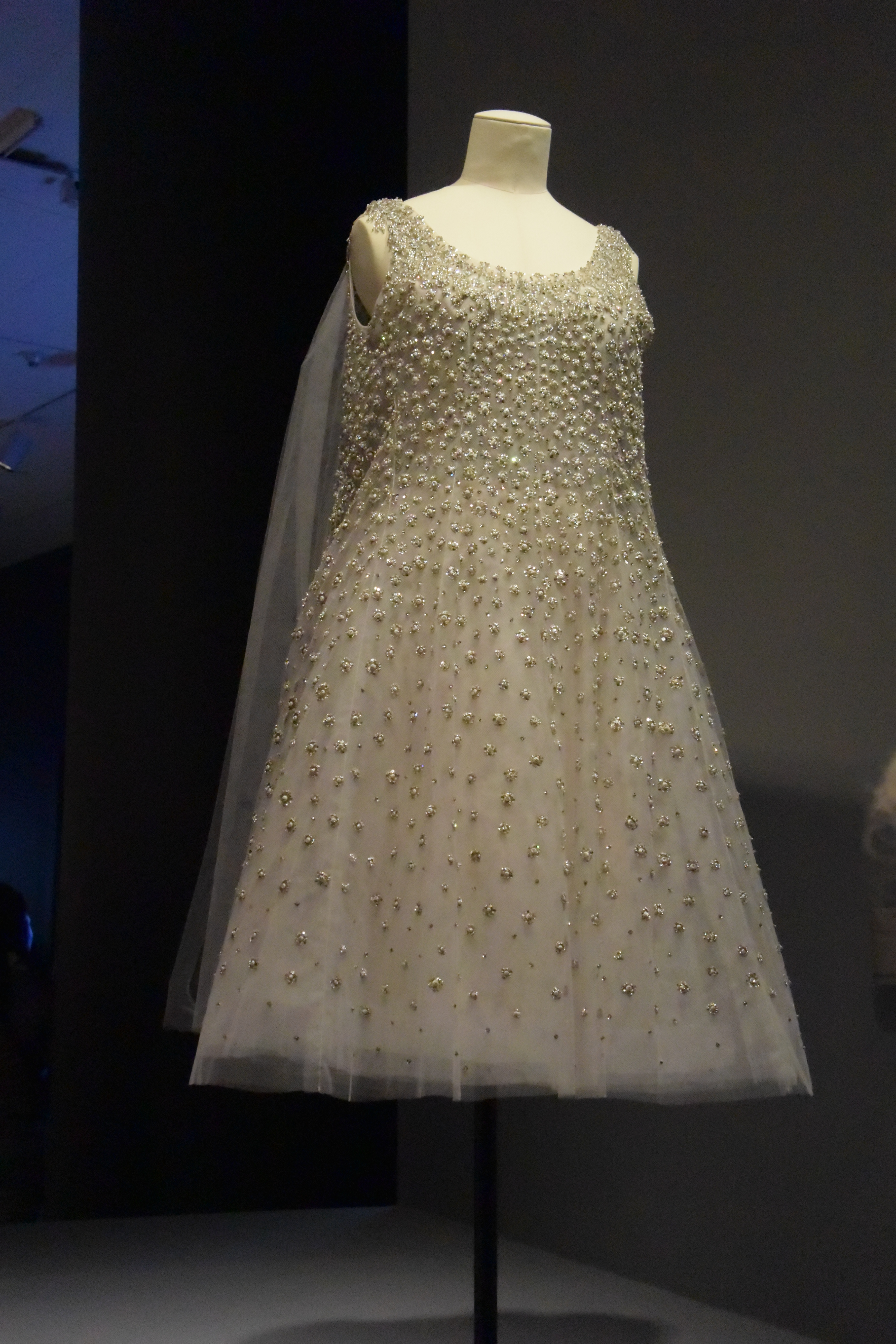 Yves Saint Laurent The Perfection Of Style At Seattle Art Museum Elephant Blanc Short Evening Dress Spring Summer 1958 Photo By Erin K Hylton 2016