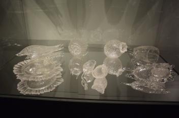 "Ellen Sollod ""Microbe-philia"" 2008-2016 Blown and hot-sculpted glass"