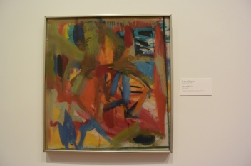 """Elaine de Kooning """"Man in a Whirl"""" 1947 Oil on canvas"""