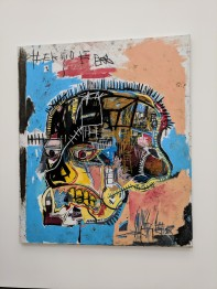 "Jean‐Michel Basquiat ""Untitled"" 1981 acrylic and oilstick on canvas. Photo by Erin K. Hylton 2018."