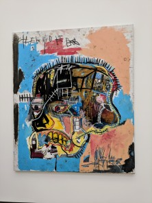 """Jean‐Michel Basquiat """"Untitled"""" 1981 acrylic and oilstick on canvas. Photo by Erin K. Hylton 2018."""